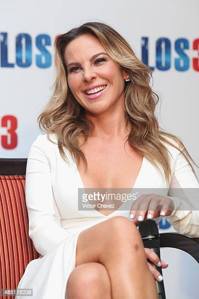 Actress Kate del Castillo attends 'Los 33' press conference at Four Seasons hotel on August 24 2015 in Mexico City Mexico