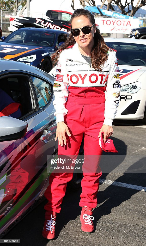Actress Kate del Castillo attends the 37th Annual Toyota Pro/Celebrity Race-Practice Day on April 9, 2013 in Long Beach, California.