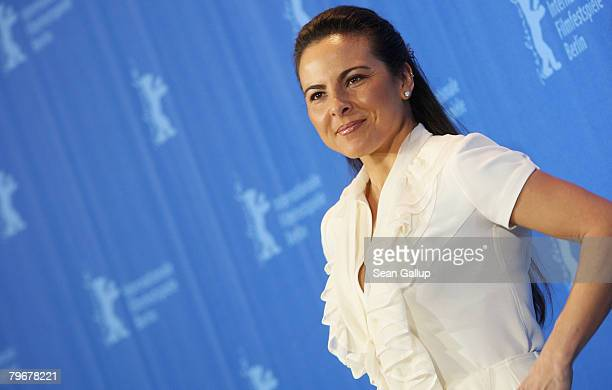 Actress Kate del Castillo attends the 'Julia' Photocall and Press Conference as part of the 58th Berlinale Film Festival at the Grand Hyatt Hotel on...