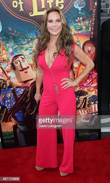 Actress Kate del Castillo attends the premiere of Twentieth Century Fox and Reel FX Animation Studios' 'The Book of Life' at Regal Cinemas LA Live on...
