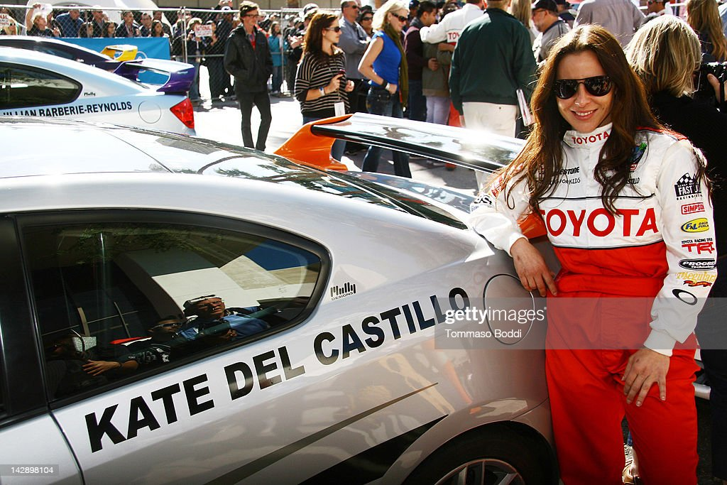 Actress <a gi-track='captionPersonalityLinkClicked' href=/galleries/search?phrase=Kate+del+Castillo&family=editorial&specificpeople=751402 ng-click='$event.stopPropagation()'>Kate del Castillo</a> poses at the 36th Annual 2012 Toyota Pro/Celebrity Race on April 14, 2012 in Long Beach, California.