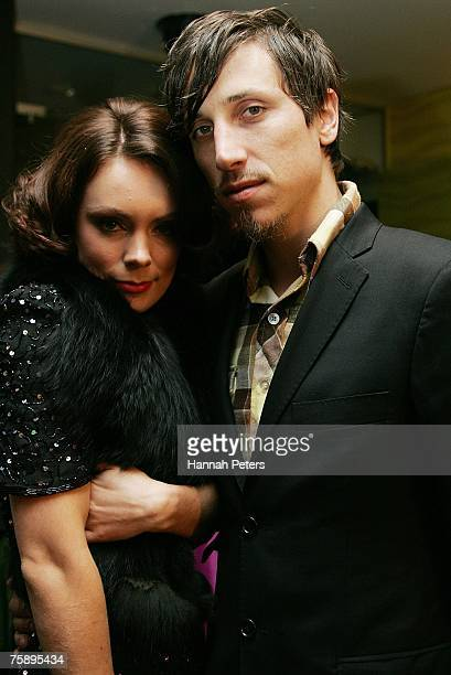 Actress Kate Elliot and her husband Milan Borich arrive at the Air New Zealand Screen Awards at Sky City Theatre on August 01 2007 in Auckland New...