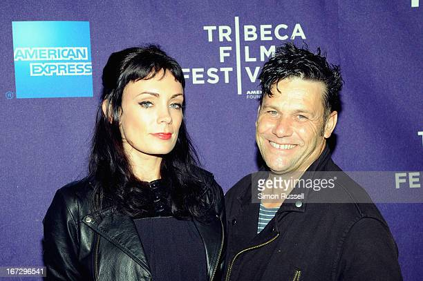 Actress Kate Elliott and director Danny Mulheron attend the 'Fresh Meat' New York screening during the 2013 Tribeca Film Festival on April 23 2013 in...