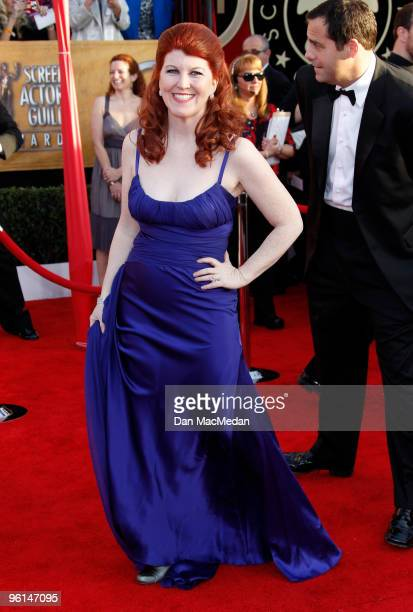 Actress Kate Flannery arrives at the 16th Annual Screen Actors Guild Awards held at the Shrine Auditorium on January 23 2010 in Los Angeles California