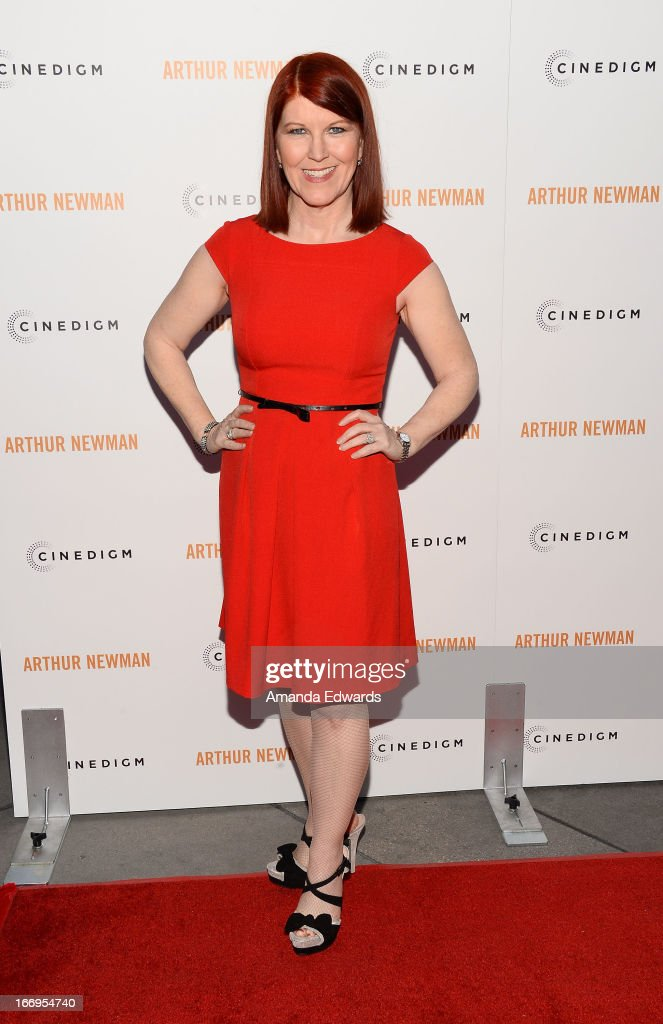 Actress Kate Flannery arrives at the Los Angeles premiere of 'Arthur Newman' at ArcLight Hollywood on April 18, 2013 in Hollywood, California.