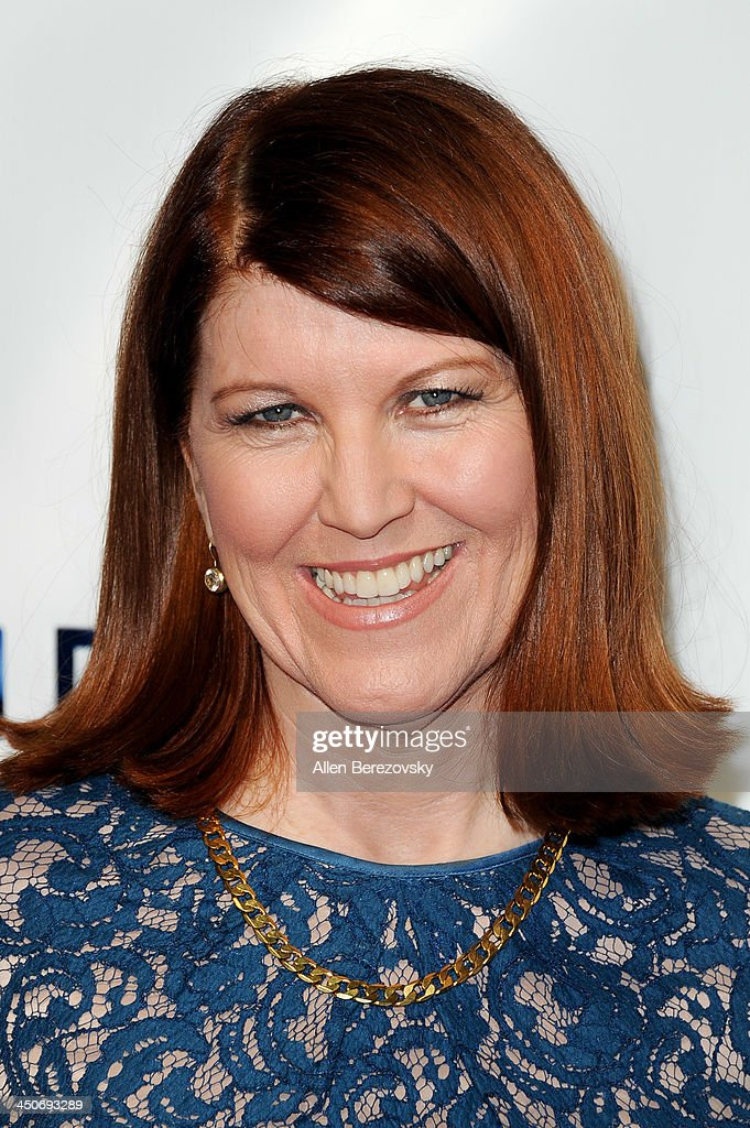 Actress Kate Flannery arrives at the Los Angeles premiere of 'G.B.F.' at Chinese 6 Theater in Hollywood on November 19, 2013 in Hollywood, California.