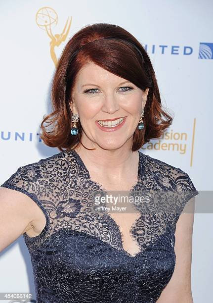 Actress Kate Flannery arrives at the Television Academy's 66th Emmy Awards Performance Nominee Reception at the Pacific Design Center on Saturday Aug...
