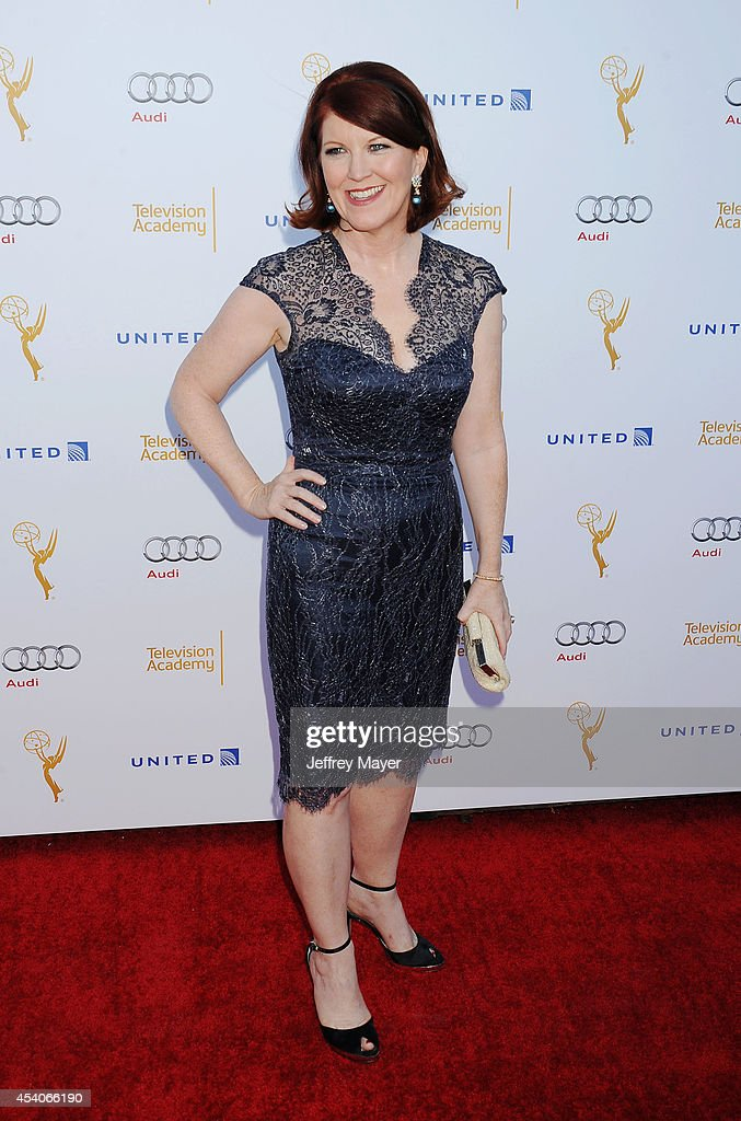 Actress <a gi-track='captionPersonalityLinkClicked' href=/galleries/search?phrase=Kate+Flannery&family=editorial&specificpeople=580714 ng-click='$event.stopPropagation()'>Kate Flannery</a> arrives at the Television Academy's 66th Emmy Awards Performance Nominee Reception at the Pacific Design Center on Saturday, Aug. 23, 2014, in West Hollywood, California.