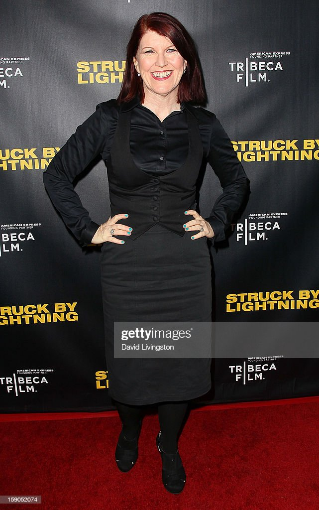 Actress Kate Flannery attends a screening of Tribeca Film's 'Struck By Lightning' at Mann Chinese 6 on January 6, 2013 in Los Angeles, California.