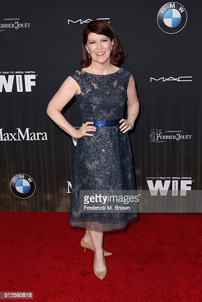 Actress Kate Flannery attends Ninth Annual Women in Film PreOscar Cocktail Party presented by Max Mara BMW MAC Cosmetics and PerrierJouet at HYDE...