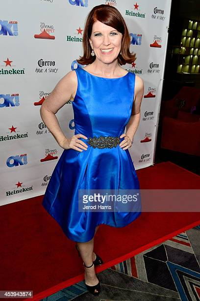 Actress Kate Flannery attends OK TV Awards Party at Sofitel Hotel on August 21 2014 in Los Angeles California