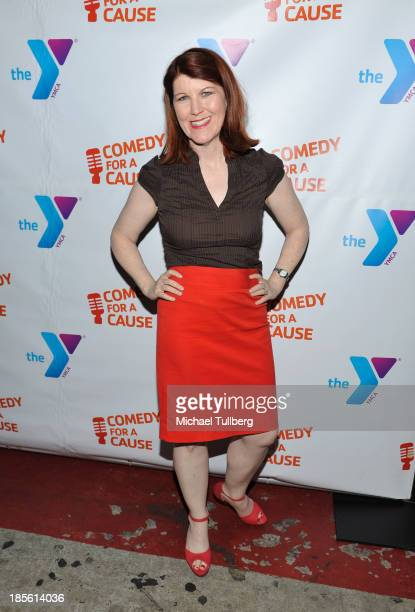 Actress Kate Flannery attends the 10th Annual Comedy For A Cause event benefiting the Hollywood Wilshire YMCA at The Laugh Factory on October 22 2013...