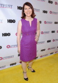 Actress Kate Flannery attends the 2014 Outfest opening night gala of 'Life Partners' at Orpheum Theatre on July 10 2014 in Los Angeles California