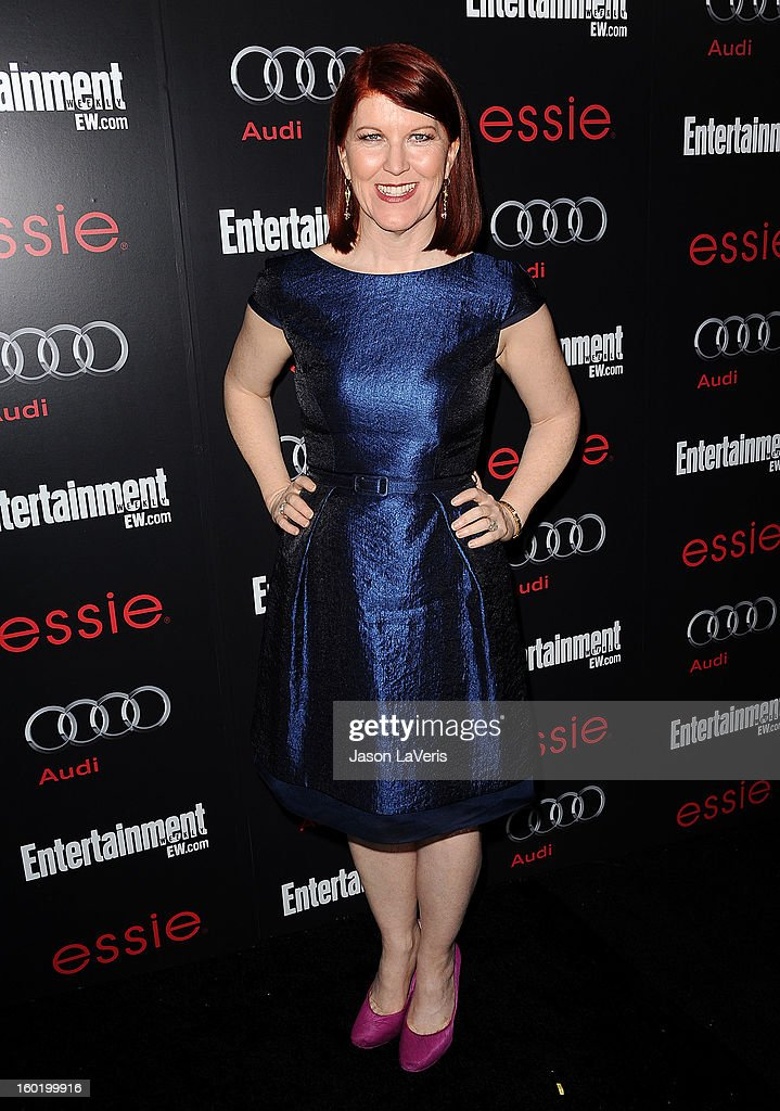 Actress Kate Flannery attends the Entertainment Weekly Screen Actors Guild Awards pre-party at Chateau Marmont on January 26, 2013 in Los Angeles, California.