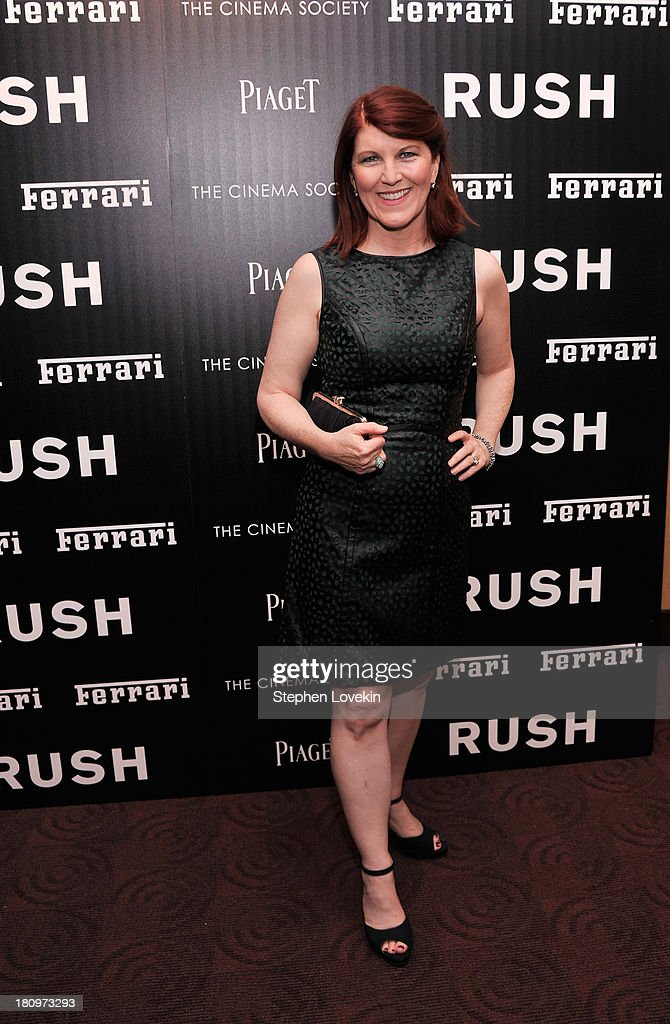 Actress <a gi-track='captionPersonalityLinkClicked' href=/galleries/search?phrase=Kate+Flannery&family=editorial&specificpeople=580714 ng-click='$event.stopPropagation()'>Kate Flannery</a> attends the Ferrari and The Cinema Society Screening of 'Rush' at Chelsea Clearview Cinemas on September 18, 2013 in New York City.