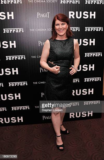 Actress Kate Flannery attends the Ferrari and The Cinema Society Screening of 'Rush' at Chelsea Clearview Cinemas on September 18 2013 in New York...