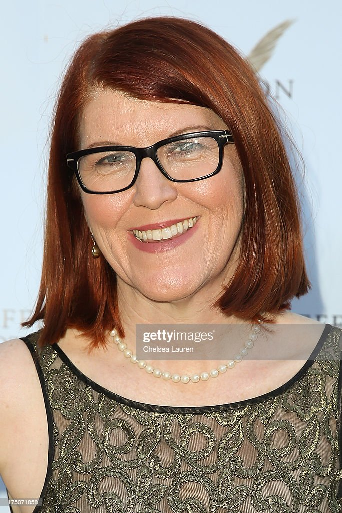 Actress <a gi-track='captionPersonalityLinkClicked' href=/galleries/search?phrase=Kate+Flannery&family=editorial&specificpeople=580714 ng-click='$event.stopPropagation()'>Kate Flannery</a> attends The Jefferson Hotel D.C. vintage wine tasting summer soiree at Hotel Bel-Air on July 30, 2013 in Los Angeles, California.