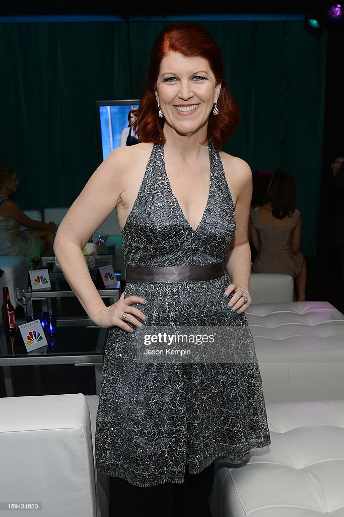 Actress Kate Flannery attends the NBCUniversal Golden Globes viewing and after party held at The Beverly Hilton Hotel on January 13, 2013 in Beverly Hills, California.