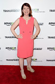 Actress Kate Flannery attends the Premiere of Amazon's 'Transparent' at Ace Hotel on September 15 2014 in Los Angeles California