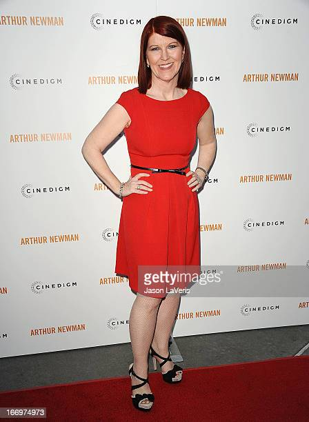 Actress Kate Flannery attends the premiere of 'Arthur Newman' at ArcLight Hollywood on April 18 2013 in Hollywood California