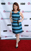 Actress Kate Flannery attends the premiere of 'Fourth Man Out' at the 2015 Outfest at the DGA Theater on July 11 2015 in Los Angeles California