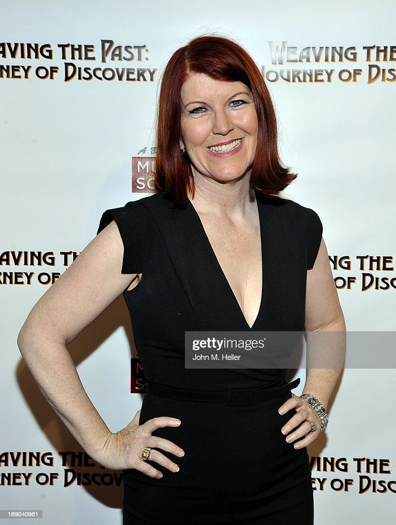 Actress <a gi-track='captionPersonalityLinkClicked' href=/galleries/search?phrase=Kate+Flannery&family=editorial&specificpeople=580714 ng-click='$event.stopPropagation()'>Kate Flannery</a> attends the screening of 'Weaving The Past: Journey Of Discovery' at the Linwood Dunn Theater at the Pickford Center for Motion Study on May 18, 2013 in Hollywood, California.