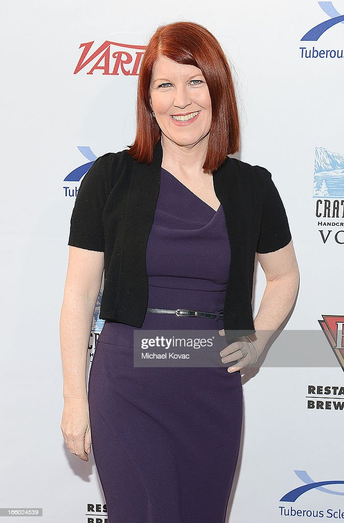 Actress Kate Flannery attends the Tuberous Sclerosis Alliance Comedy For A Cure 2013 at Lure on April 7, 2013 in Hollywood, California.