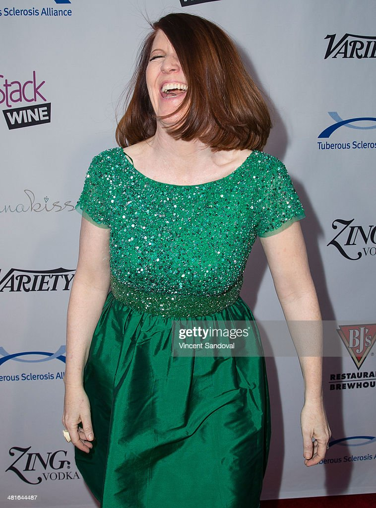 Actress Kate Flannery attends the Tuberous Sclerosis Alliance's Comedy For A Cure benefit at Lure on March 30, 2014 in Hollywood, California.