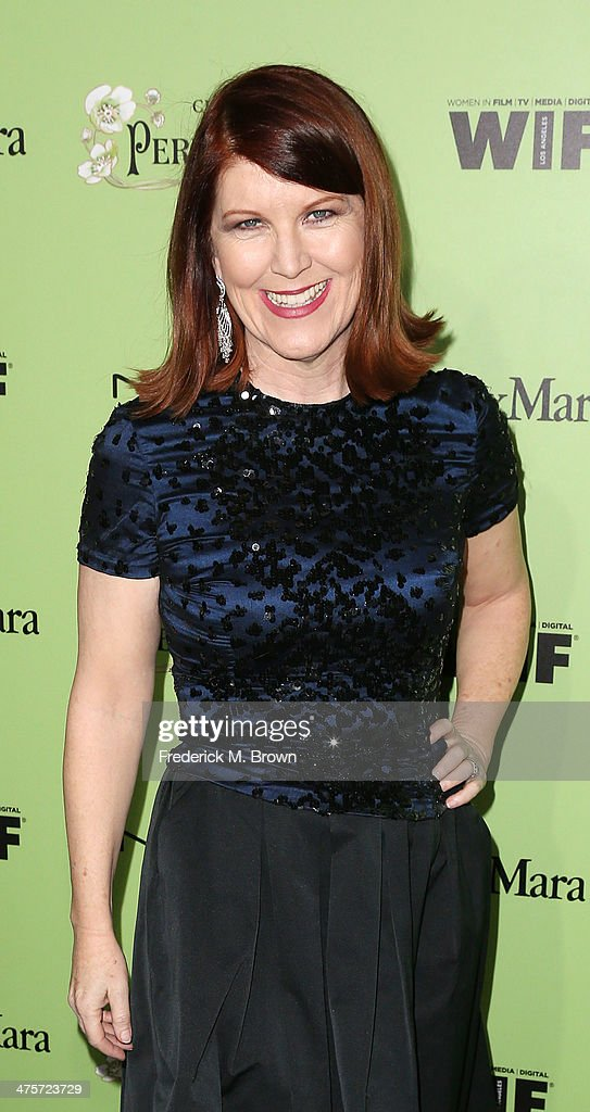 Actress <a gi-track='captionPersonalityLinkClicked' href=/galleries/search?phrase=Kate+Flannery&family=editorial&specificpeople=580714 ng-click='$event.stopPropagation()'>Kate Flannery</a> attends the Women in Film Pre-Oscar Cocktail Party Presented by Perrier-Jouet, MAC & MaxMara at the Fig & Olive Melrose Place on February 28, 2014 in West Hollywood, California.