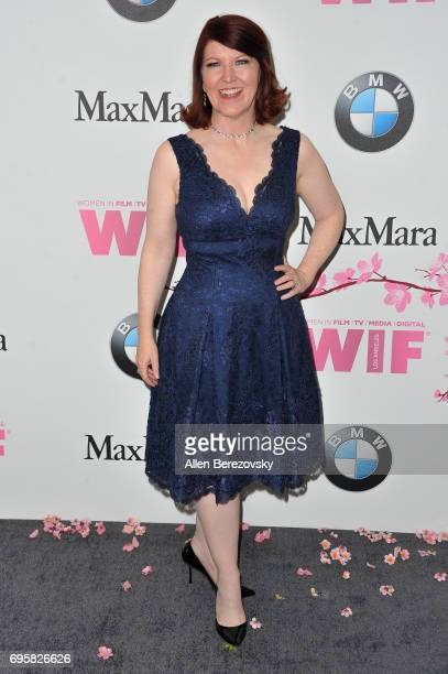 Actress Kate Flannery attends Women In Film 2017 Crystal Lucy Awards Presented By Max Mara And BMW at The Beverly Hilton Hotel on June 13 2017 in...