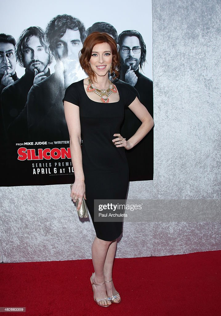 Actress Kate Gorney attends the premiere of HBO's 'Silicon Valley' at Paramount Studios on April 3, 2014 in Hollywood, California.