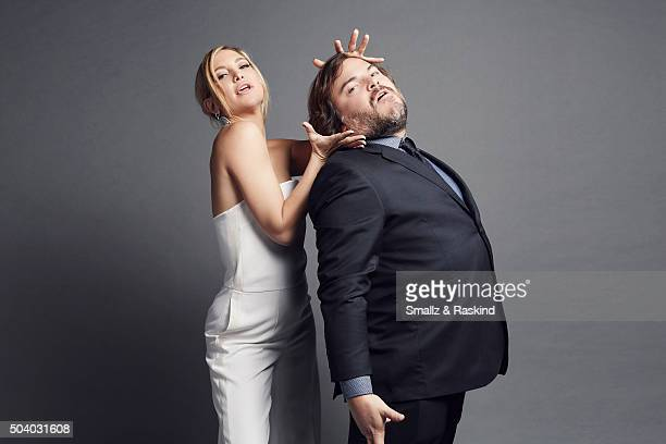 Actress Kate Hudson and actor Jack Black poses for a portrait at the 2016 People's Choice Awards at the Microsoft Theater on January 6 2016 in Los...