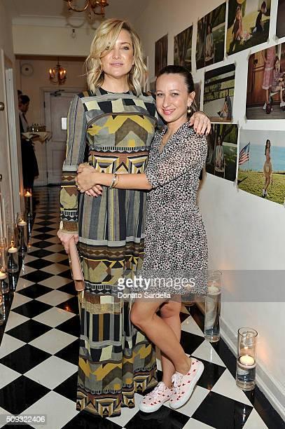 Actress Kate Hudson and designer Jennifer Meyer attend the Superga XO Jennifer Meyer Collection Launch Celebration at Chateau Marmont on February 9...