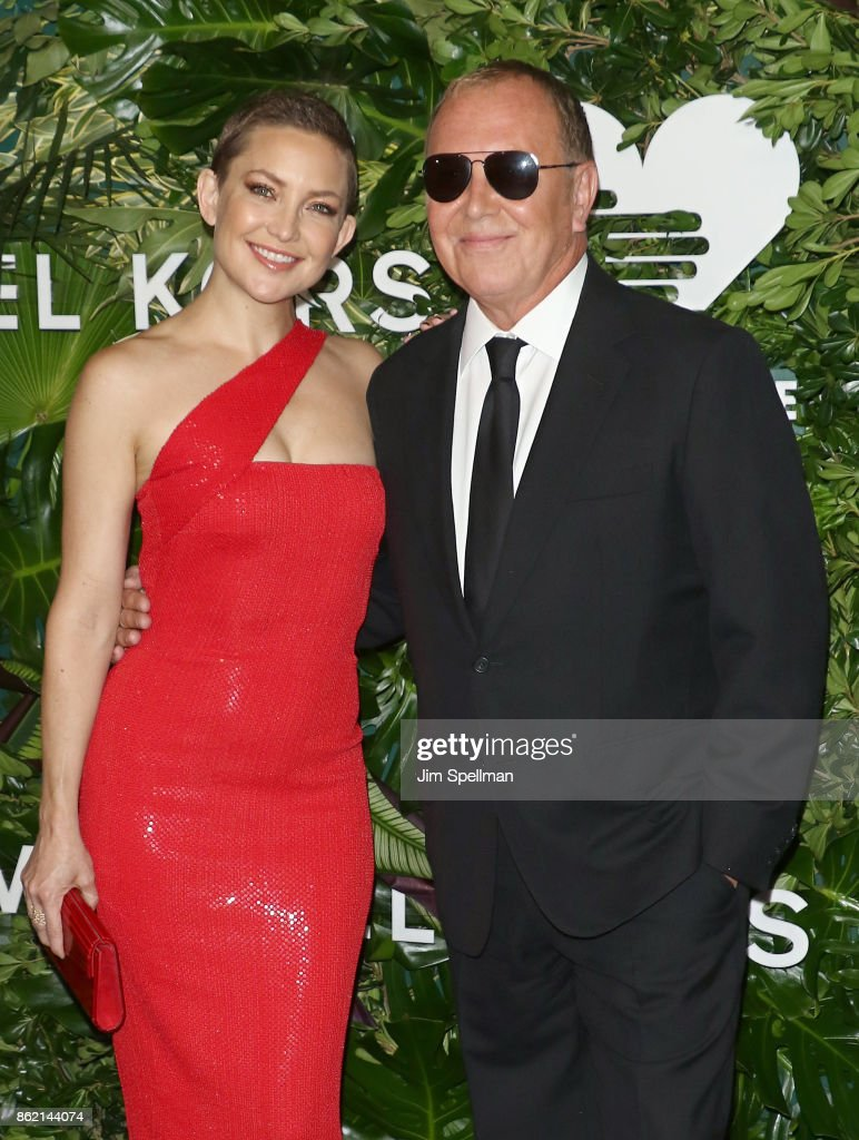 Actress Kate Hudson and designer Michael Kors attend the 11th Annual God's Love We Deliver Golden Heart Awards at Spring Studios on October 16, 2017 in New York City.