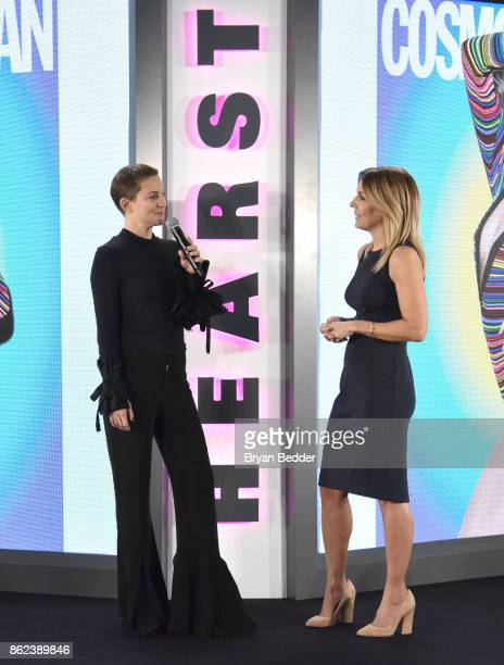 Actress Kate Hudson and Editor in Chief of Cosmopolitan Michele Promaulayka speaks onstage at Hearst Magazines' Unbound Access MagFront at Hearst...