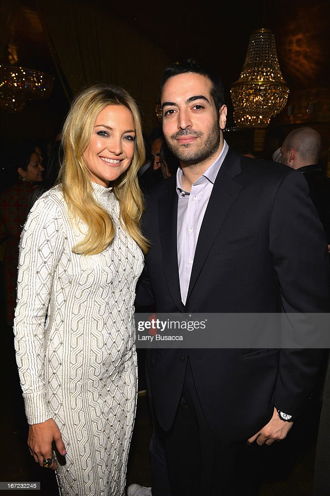 Actress Kate Hudson and Mohammed Al Turki attend the 'Reluctant Fundamentalist' Pre Party during the 2013 Tribeca Film Festival on April 22 2013 in...