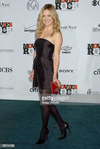 Actress Kate Hudson arrives at Movies Rocks event at the Kodak Theater on December 2 2007 in Hollywood California