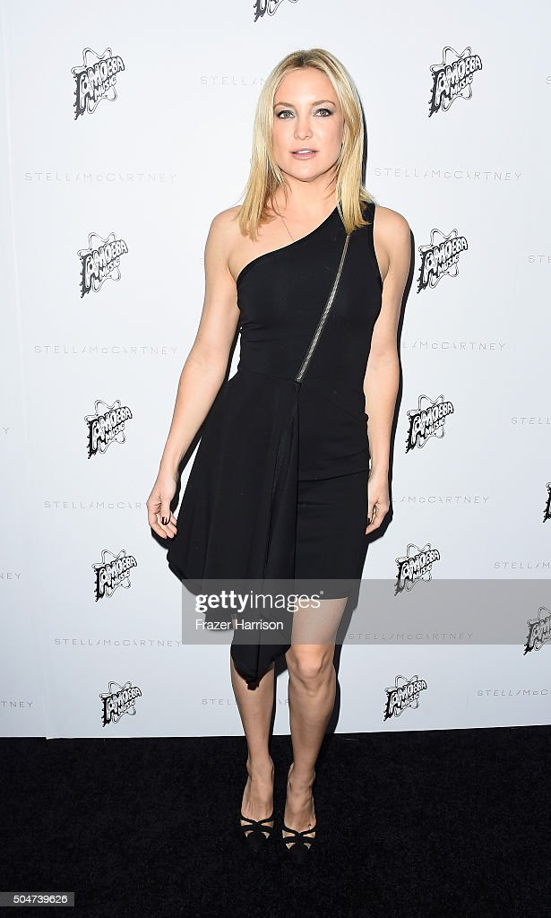 Actress Kate Hudson arrives at Stella McCartney Autumn 2016 Presentation at Amoeba Music on January 12 2016 in Los Angeles California