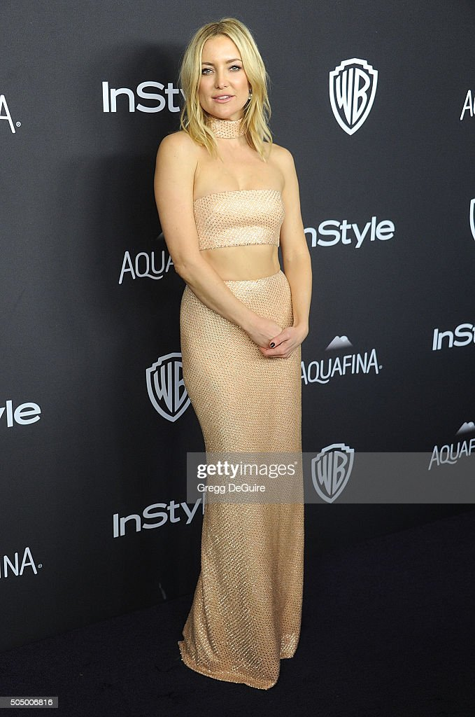 Actress Kate Hudson arrives at the 2016 InStyle And Warner Bros. 73rd Annual Golden Globe Awards Post-Party at The Beverly Hilton Hotel on January 10, 2016 in Beverly Hills, California.