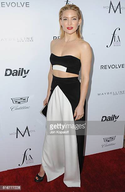 Actress Kate Hudson arrives at The Daily Front Row 'Fashion Los Angeles Awards' 2016 at Sunset Tower Hotel on March 20 2016 in West Hollywood...