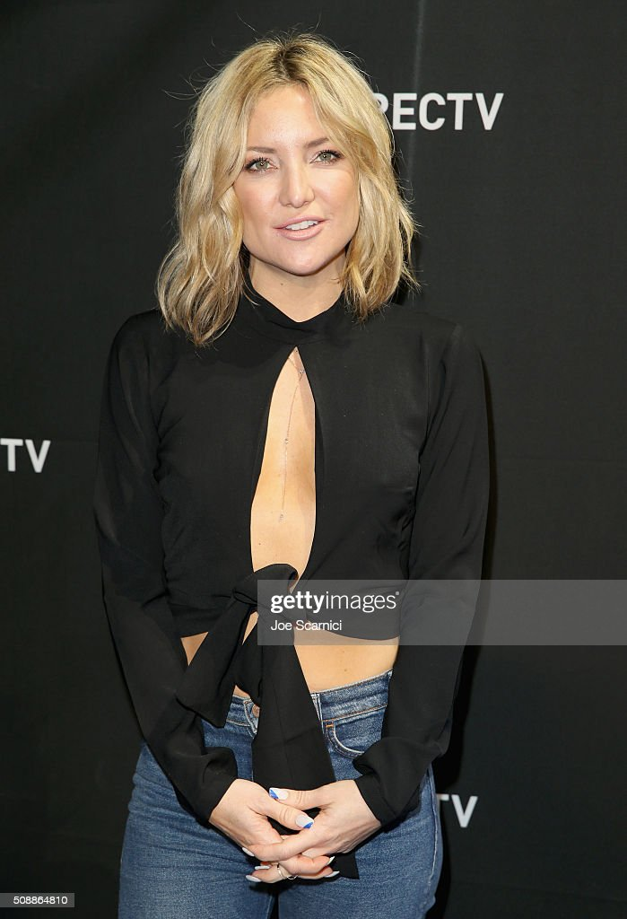Actress <a gi-track='captionPersonalityLinkClicked' href=/galleries/search?phrase=Kate+Hudson&family=editorial&specificpeople=156407 ng-click='$event.stopPropagation()'>Kate Hudson</a> attends DirecTV Super Saturday Night Co-hosted by Mark Cuban's AXS TV at Pier 70 on February 6, 2016 in San Francisco, California.