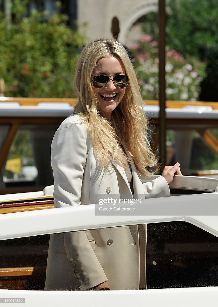 Actress Kate Hudson attends the 69th Venice International Film Festival on August 29 2012 in Venice Italy