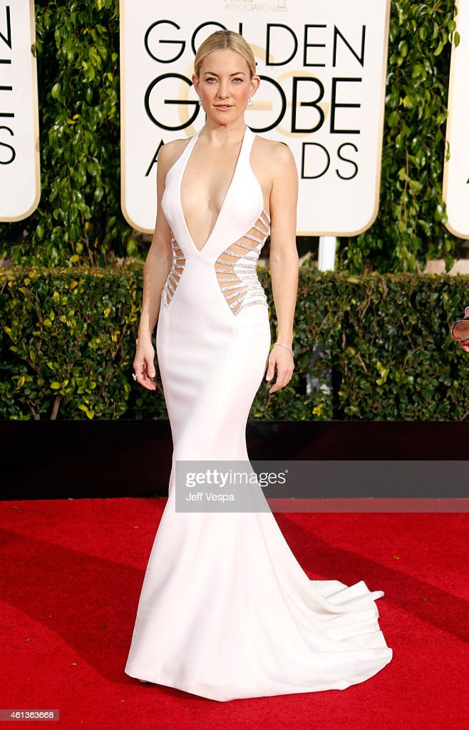 Actress <a gi-track='captionPersonalityLinkClicked' href=/galleries/search?phrase=Kate+Hudson&family=editorial&specificpeople=156407 ng-click='$event.stopPropagation()'>Kate Hudson</a> attends the 72nd Annual Golden Globe Awards at The Beverly Hilton Hotel on January 11, 2015 in Beverly Hills, California.