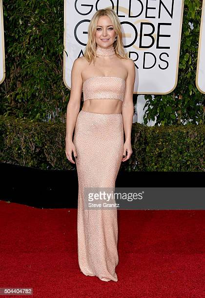 Actress Kate Hudson attends the 73rd Annual Golden Globe Awards held at the Beverly Hilton Hotel on January 10 2016 in Beverly Hills California