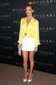 Actress Kate Hudson attends the BVLGARI 'Decades of Glamour' Oscar Party at Soho House on February 25 2014 in West Hollywood California