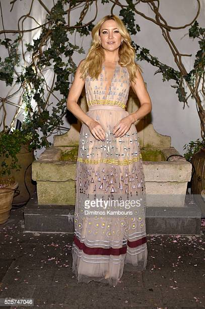 Actress Kate Hudson attends The Cinema Society With Lands' End screening of Open Road Films' 'Mother's Day' after party at Ladur��e Soho on April 28...