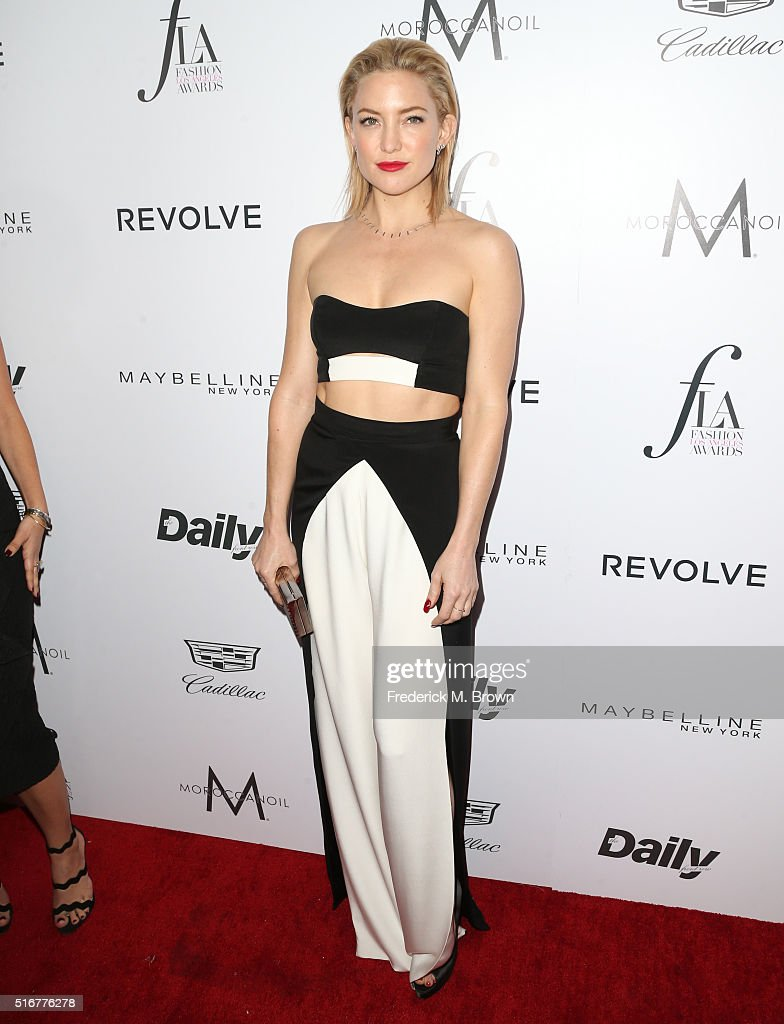 Actress <a gi-track='captionPersonalityLinkClicked' href=/galleries/search?phrase=Kate+Hudson&family=editorial&specificpeople=156407 ng-click='$event.stopPropagation()'>Kate Hudson</a> attends the Daily Front Row 'Fashion Los Angeles Awards' at Sunset Tower Hotel on March 20, 2016 in West Hollywood, California.