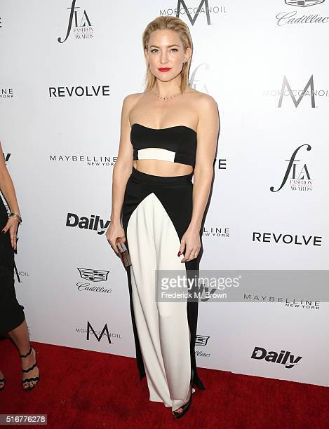 Actress Kate Hudson attends the Daily Front Row 'Fashion Los Angeles Awards' at Sunset Tower Hotel on March 20 2016 in West Hollywood California