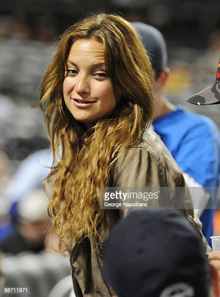 Actress Kate Hudson attends the game between the New York Yankees and the New York Mets at Citi Field on June 26 2009 in New York City