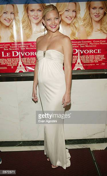 Actress Kate Hudson attends the New York Premiere of 'Le Divorce' at the Paris Theatre August 5 2003 in New York City